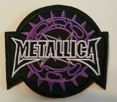 "Metallica~Heavy Metal~Embroidered PATCH~3 1/8"" x 2 7/8""~Iron or Sew On~Collect"