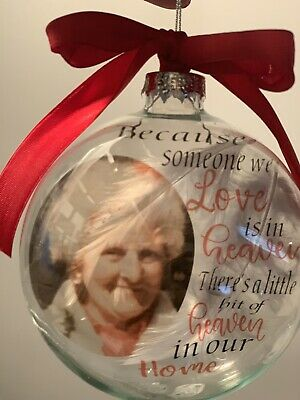 Personalised Photo Remembrance Bauble, Tree Decoration, Christmas Bauble, Memory