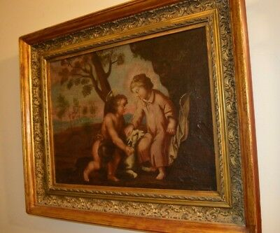 Antique Spanish Colonial Oil Painting -- 17-18th Century
