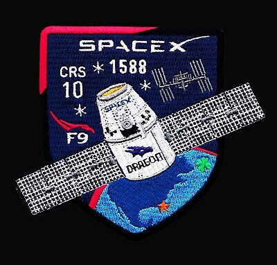 CRS-10- SPACEX ORIGINAL Employee Numbered FALCON-9 DRAGON F-9 Mission PATCH