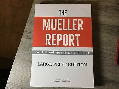 The Mueller Report.. by Robert S Mueller III PAPERBACK 2019 Large Print Edition