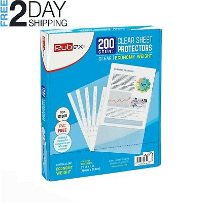 200 Sheet Protectors, Holds 8.5 x 11 inch Sheets