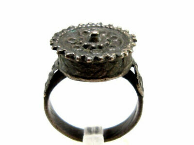 Outstanding Post Byzantine, Medieval Billon Rex Ring!!!+++Rare Design+++