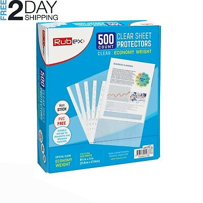 500 Sheet Protectors, Holds 8.5 x 11 inch Sheets