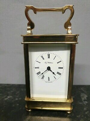 English 8 Day English Lever Henley Brass Carriage Clock.