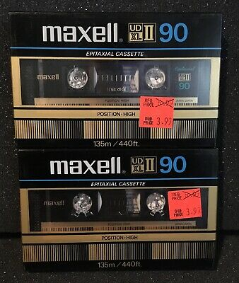 2 Maxell Ud Xl Ii 90 High-Level Bias Epitaxial Cassette Tape New Sealed
