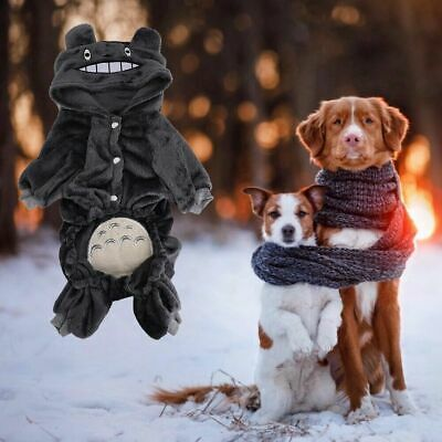Winter Coral Fleece Dog Jumpsuit Hoodie Cat Clothes Puppy Coat Pets Outfits