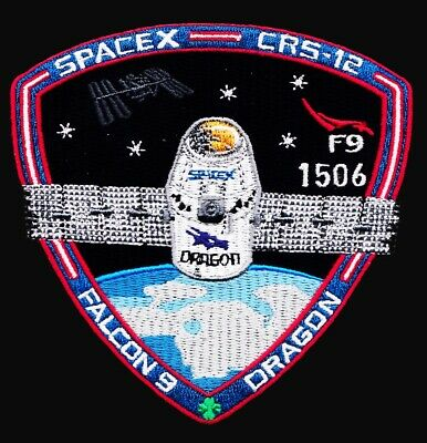 CRS-12 - SPACEX ORIGINAL Employee Numbered FALCON-9 DRAGON F-9 Mission PATCH