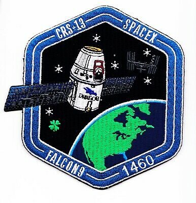 CRS-13 - SPACEX ORIGINAL Employee Numbered FALCON-9 DRAGON F-9 Mission PATCH