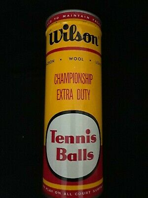 wilson, vintage tennis balls, in can, Championship extra duty, pressure packed