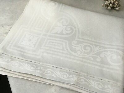 Antique damask linen towels large