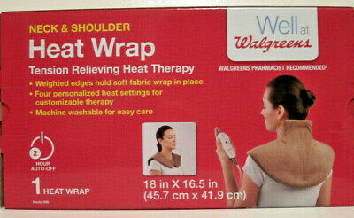 Walgreens Neck & Shoulder Heat Wrap Tension Relieving Heat Therapy