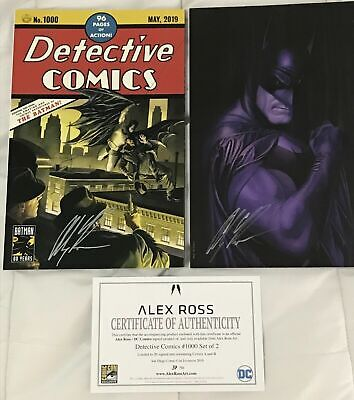 2019 Sdcc Detective Comics #1000 Nm+/Nmmt (9.6-9.8) Alex Ross Signed Variant Set