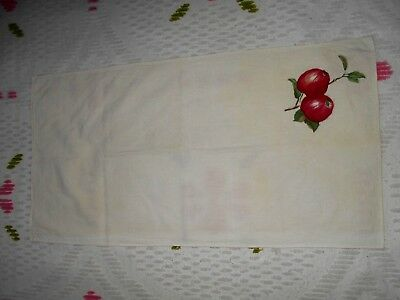 """VTG Table Cloth Apples (16 1/2""""X 31 1/2"""") (Pre-Owned)"""