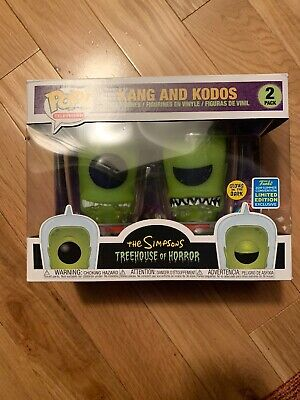 Funko POP! SDCC 2019 The Simpsons Kang and Kodos GITD 2Pack Shared Sticker