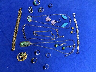 Vintage Junk Drawer Jewelry Lot Unfinished 19 Fashion Pieces
