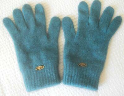 Koru New Zealand Possum Merino Wool Ladies Gloves Teal Size M