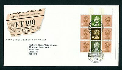 1988 GB FDC. FT DX9 Booklet Pane Machin. Edinburgh First Day Cover. SG x1006l