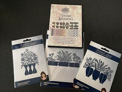 Tattered Lace Vintage Botanical Collection - 3 Die Sets + CD ROM
