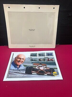 Murray Walker OBE signed autographed 2007 Grand Prix first day cover stamps