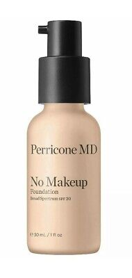 NEW Perricone MD No Makeup Foundation SPF30 Fair to Light 30ml 09/2020 £45