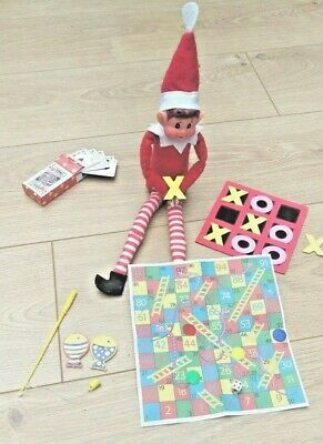 4 x Elf Games Props Toys Gifts for on the shelf with the Naughty Christmas Elf