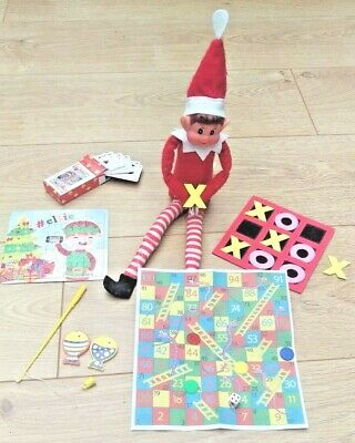5 x Elf Games Props Toys Gifts for on the shelf with the Naughty Christmas Elf