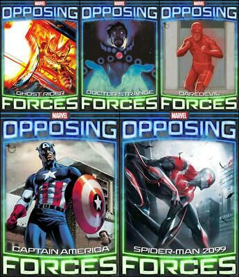 Topps Marvel Collect OPPOSING FORCES [5 CARD Wave 1 SET] Captain/Strange+++