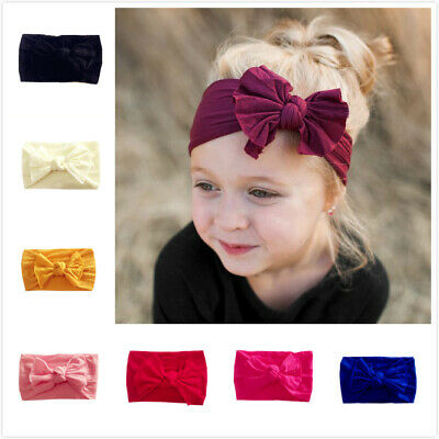 Newborn Baby Rabbit Headband Cotton Elastic Bowknot Hairband Girls Headwrap Band