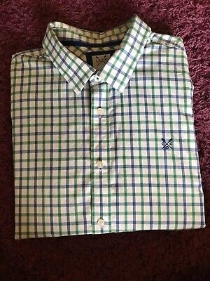 Crew Clothing Co. Mens classic fit long sleeve check shirt XX Large green blue
