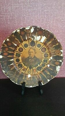 Antique Plate with old cigar wrappers on