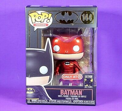Funko POP Red BATMAN Target Red Card Exclusive Batman Day 2019 9/21/19 NEW DC