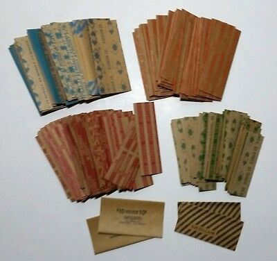 Lot of 255 New Vintage Flat Paper Coin Wrappers Mixed Denomination Old School