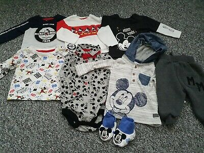 Boys 3-6 Months Micky Mouse Winter Clothes Bundle *Combined Postage*