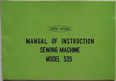 Original Janome New Home 535 Sewing Machine Instruction Manual Booklet