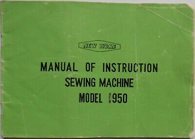 Original Janome New Home 950 Sewing Machine Instruction Manual Booklet
