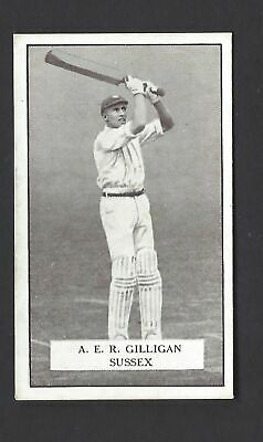Gallaher - Famous Cricketers - #60 A E R Gilligan, Sussex