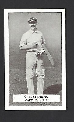 Gallaher - Famous Cricketers - #6 G W Stephens, Warwickshire