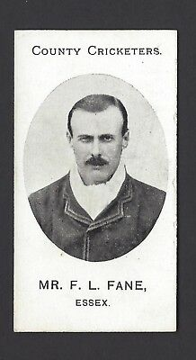 Taddy - County Cricketers - Mr F L Fane, Essex