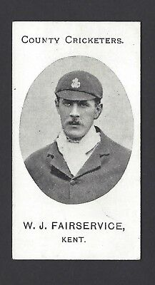 Taddy - County Cricketers - W J Fairservice, Kent