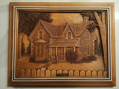 """Wood Carving By Kim Murray """"Country Home"""""""