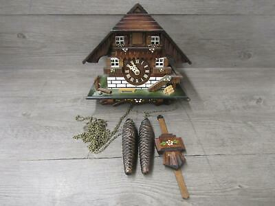 Black Forest Cuckoo Clock Brick House For Parts or Repair