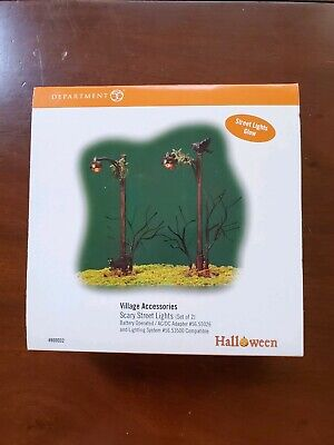 "Dept 56 Snow Village Halloween ""Scary Street Lights"" Village Accessories 800032"