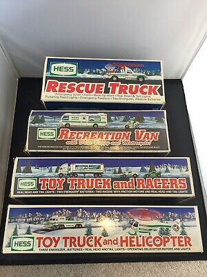 Hess Trucks and Boxes 1994, 1995, 1997, 1998