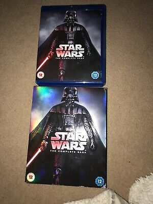 Star Wars - The Complete Saga  Blu-ray    9-Disc Box Set          No Slip Cover