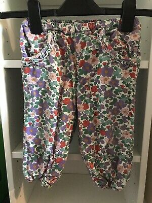 Girls Baby Boden Trousers, Floral, Multicoloured, 18-24 Months