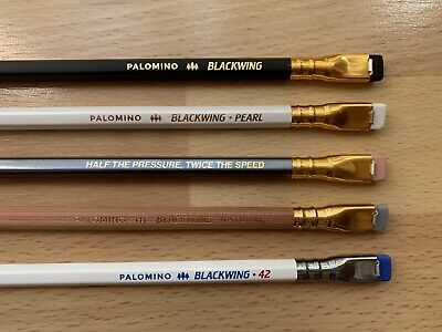 Blackwing 5 Pencil Sampler: MMX, 602, Pearl, Natural, and Volume 42