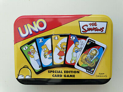 UNO Card Game - THE SIMPSONS Special Edition with collectors tin