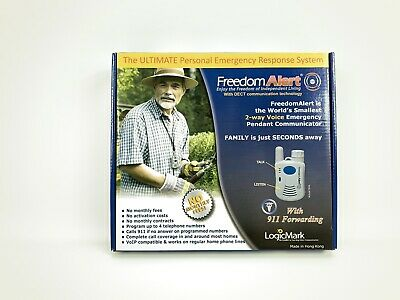 Freedom Alert 35511 Emergency Pendant Communicator No Monthly Fees LogicMark