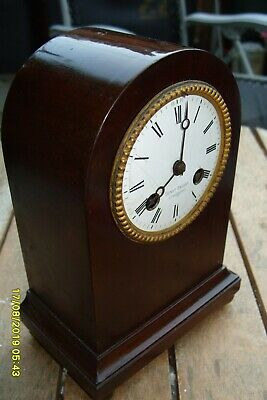 Mantel  Clock  Henry Bright Leamington Japy Freres Striking  Original Pendulum